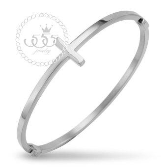 555jewelry Stainless Steel 316L กำไลข้อมือสแตนเลส รุ่น MNC-BG233-A (Steel)