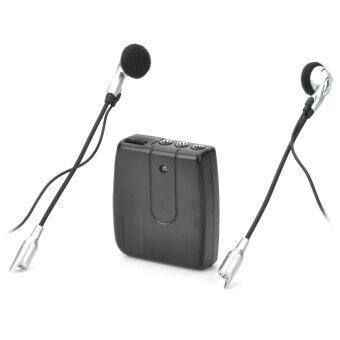 ชุดหูฟังสวมหมวกกันน็อก Interphone 2 ทางอินเตอร์คอม-สีดำ (2 x เอเอเอ)