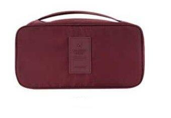 MONOPOLY กระเป๋าเก็บของใช้ส่วนตัวและชุดชั้นใน กันน้ำ ป้ายซิลิโคน ( Red wine )