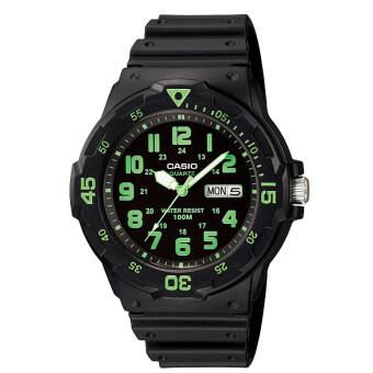 Casio Standard นาฬิกาข้อมือผู้ชาย สีดำ สายเรซิ่น รุ่น MRW-200H-3BVDF