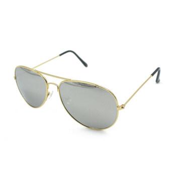UV400 แว่นตากันแดดแว่นตาผู้ชายเสื้อโลหะทองเลขที่ 4