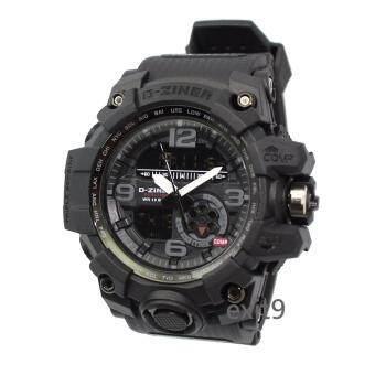 D-ZINER นาฬิกาข้อมือผู้ชาย สายซิลิโคน รุ่นDZ-8119 (ดำ)
