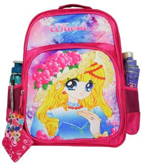Wheal กระเป๋าเป้สำหรับเด็ก เป้สะพายหลัง กระเป๋านักเรียน 16 นิ้ว รุ่น Princess 85516 (Pink)