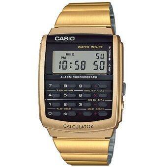 Casio Standard นาฬิกาข้อมือผู้ชาย สีทอง สายสแตนเลส รุ่น CA-506G-9ADF