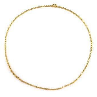 MONO Jewelry สร้อยคอทองคำลายห่วงคล้อง งานทองไมครอน ชุบเศษทองคำแท้ รุ่นน้ำหนัก ๑ บาท