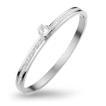 555jewelry 316L Bangle กำไล รุ่น MNC-BG234-A (สี Steel)