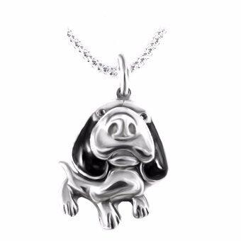 Finejewelthai-จี้รูปสุนัข-จี้เงินแท้-P01001069BL
