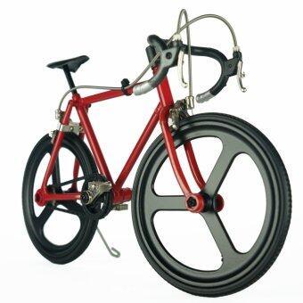 Little Bike โมเดลรถจักรยาน รุ่น จักรยานเสือหมอบ LB-008 ( สีแดง/ล้อดำ )