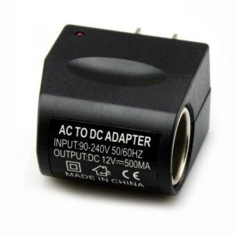 Riche ACPLUGตัวแปลงไฟบ้าน ให้เป็นไฟ 12V DC 500 Mah แบบที่จุดบุหรี่ในรถยนต์ (สีดำ)