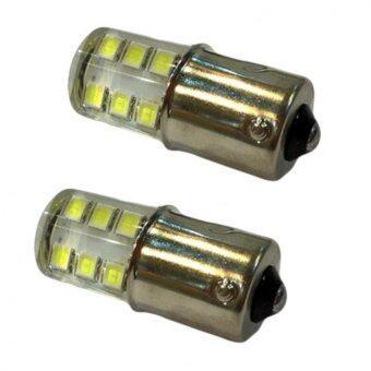 LED หลอด LED ไฟเลี้ยวหรือไฟถอยกระพริบ เขี้ยวบิดใหญ่ แสงสีขาว 1 คู่ (FLASH WHITE) 84-racing