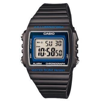 Casio Standard นาฬิกาผู้ชาย สายเรซิ่น รุ่น W-215H-8AVDF - Black