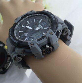 D-ZINER นาฬิกาข้อมือผู้ชาย SPORT WATCH DZ-8090 Black/Grey
