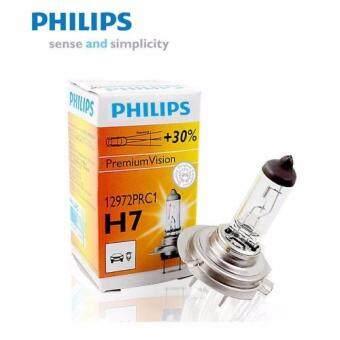 Philips หลอดไฟหน้า หลอดไฟรถยนต์ ไฟหน้า ไฟตัดหมอก H7 100W 12V 1คู่