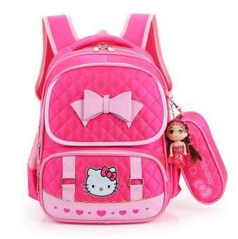 Hely TOP High-capacity Kids Girls Cartoon Schoolbag Waterproof Primary School Pupils Backpack with Pencil Bag (Rose) - Intl