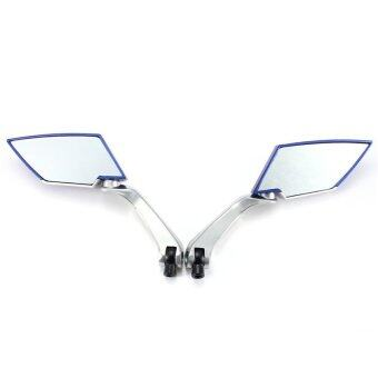 Harga Universal Motorcycle Scooter Side Rear View Mirrors Modification Mirror 8mm 10mm Blue