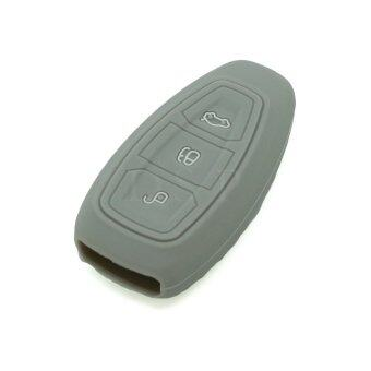 CV3702GY Silicone Cover Holder Fit for Ford 3 Button Smart Remote Key (Gray)