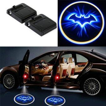 Harga HengSong 259 blue bats LED Car Door Welcome Light Laser Car Door Shadow Projector Wireless Car Welcome Door-Black - intl