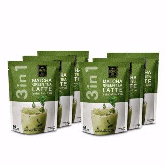 ชาเขียว มัทฉะ ลาเต้ RANONG TEA MATCHA GREEN TEA LATTE 3in1 (แพค 6 ถุง)