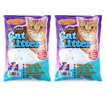 Catty Cat ทรายแมว คริสตัล 5L. (2 units)