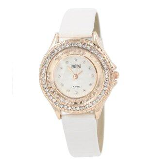 Sevenlight นาฬิกาข้อมือผู้หญิง รุ่น WP8076 (White/ Pink Gold)