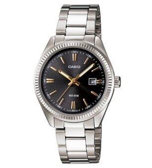 Casio Standard นาฬิกาข้อมือผู้หญิง สายสแตนเลส รุ่น LTP-1302D-1A2VDF - สีเงิน/ดำ