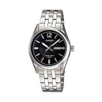 Casio Standard นาฬิกาข้อมือผู้หญิง สายสแตนเลส รุ่น LTP-1335D-1AVDF - เรือนเหล็ก/หน้าดำ