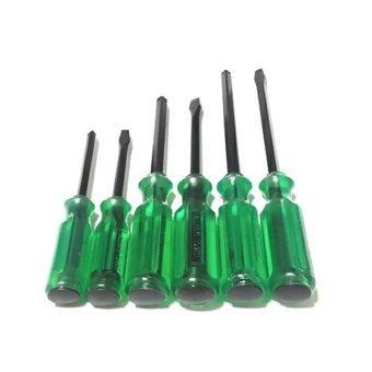 STARNIC ไขควงด้ามตอกได้ ปากแบนและปากแฉก 6ตัว/ชุด