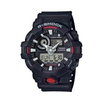CASIO G-Shock นาฬิกาข้อมือผู้ชาย สีดำ/แดง สายเรซิน รุ่น GA-700-1Aประกันcmg