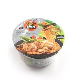 นู้ดเดิ้ลคลิก บะหมี่ชามแห้งกึ่งสำเร็จรูป รสหอยลายผัดน้ำพริกเผา 80กรัม (แพ็ค 3 ชามต่อชุด ,4ชุด/กล่อง) Noodle Click Instant Noodle bowl with Stir- Fried Clam Meat and Chili Paste Flavor 80g (3bowls/pack ,4packs/carton) , Total 12 bowls