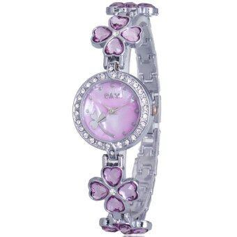 MEGA Lady Jewelry Luxury Fashion Bracelet Watch นาฬิกาข้อมือผู้หญิง สายสแตนเลส Kimio Style รุ่น K456 (Purple)