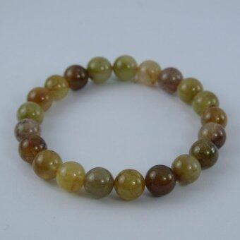 Pearl Jewelry กำไลหินไหมทอง 5 สี S25
