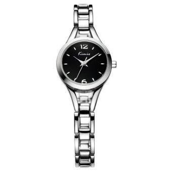 Kimio นาฬิกาข้อมือผู้หญิง สีเงิน/ดำ สายสแตนเลส รุ่น KW6106