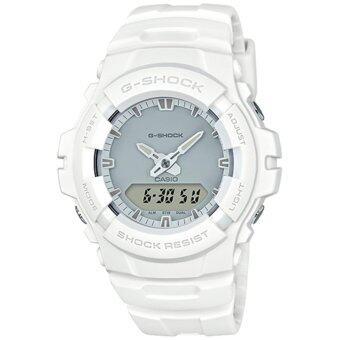 Casio G-Shock นาฬิกาข้อมือผู้ชาย สายเรซิ่น รุ่น G-100CU-7 - สีขาว