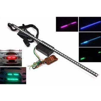 LED ไฟตกแต่ง ไฟติดกระจังหน้า ไฟกระพริบหน้ารถ ไฟแฟลช ไฟฉุกเฉิน พร้อมรีโมท เปลี่ยนสีได้ 7 สี เปลี่ยนโหมดการกระพริบ กันน้ำ