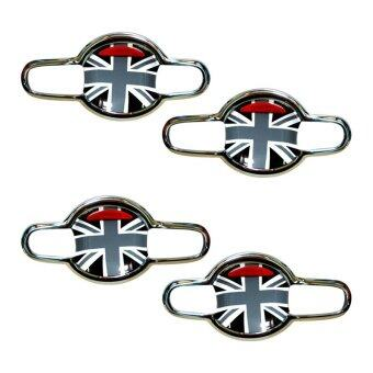 FITT เบ้าเปิดประตู SUZUKI SWIFT 2012 นอก-ลายธงชาติอังกฤษขาว-ดำ (4ชิ้น/ชุด)