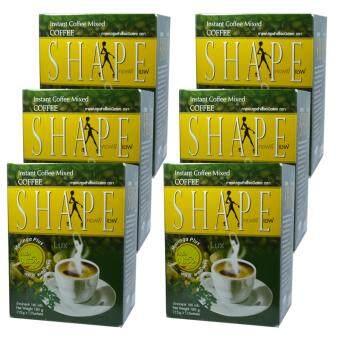 Coffee Shape คอฟฟี่เชฟ กาแฟผสมมะรุม พลัสมอลินก้า กาแฟลดน้ำหนัก เพื่อสุขภาพ หุ่นสวย สั่งได้ บรรจุ 12 ซอง (6 กล่อง)