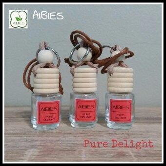 aibies [กลิ่นดอกซากุระ] น้ำหอมรถอโรม่า ปลอดแอลกอฮอล์ ขนาด 2.5 mL – 3 ชุด