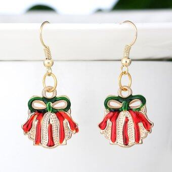 Harga New Arrival Fashion Enamel Christmas Gift Box Drop Earring For Best Friend Christmas Gifts Jewelry (Intl)