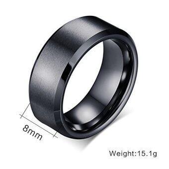 8มมสีดำทังสเตนคาร์ไบด์แหวนแต่งงานชายสายทรงปลอบโยน และพื้นผิวด้านขนาด 7 กับ 12