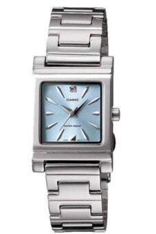 Casio Standard นาฬิกาข้อมือผู้หญิง สายสแตนเลส รุ่น LTP1237D-2 - สีเงิน/ฟ้า