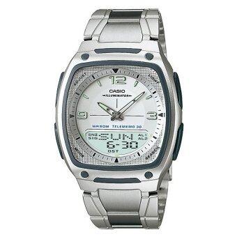 Casio Standard นาฬิกาข้อมือผู้ชาย สีดำ สายแสตนเลส รุ่น AW-81D-7A