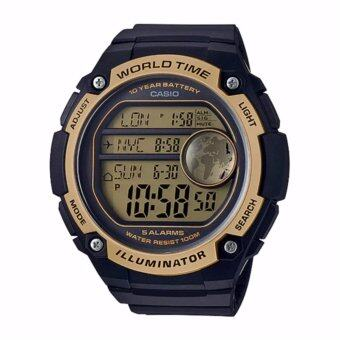 Casio Standard นาฬิกาข้อมือผู้ชาย สายเรซิ่น รุ่น AE-3000W-9AVDF