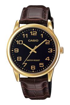 Casio นาฬิกาข้อมือ รุ่น MTP-V001GL-1BUDF-Brown/Black