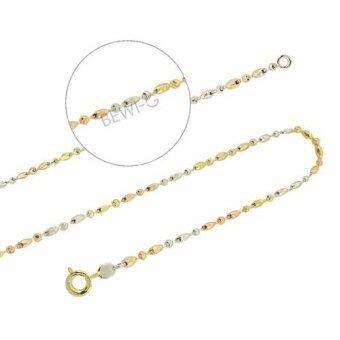 Bewi-G สร้อยคอ3กษัตริย์ ลายBall chain ไล่สี3กษัตริย์ รุ่น BG-N0004-24-SVRGGD สีทอง/เงิน/โรสโกลด์