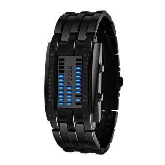 นาฬิกาข้อมือ SKMEI Watch 0926 Lovers ชุดนาฬิกาข้อมือแฟชั่น LED ซิงค์สเตนเลสแบบแอนะสแตนเลส L Silver