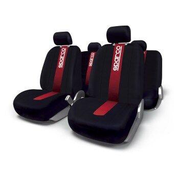 HC Sparco ผ้าหุ้มเบาะ รุ่น SPC1013 - สีดำ/แดง (ชุด 4 ชิ้น)