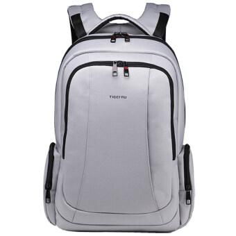 Tigernu ป้องกันขโมยกระเป๋าสำหรับ 12-15.6นิ้ว กันน้ำท่องเที่ยวธุรกิจผลิตเครื่อง BackpackT-B3143 (สีเทาเงิน)