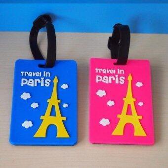 แท็กกระเป๋าเดินทางลายท่องเที่ยว (สีน้ำเงิน/ชมพู) 2ชิ้น