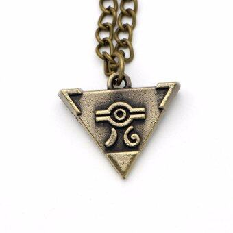 Harga Yu Gi Oh Cosplay Yu-Gi-Oh Muto Yugi Aibo Atum Yugioh Pyramid Necklace Triangle Pendant Necklace Jewelry Accessories - intl