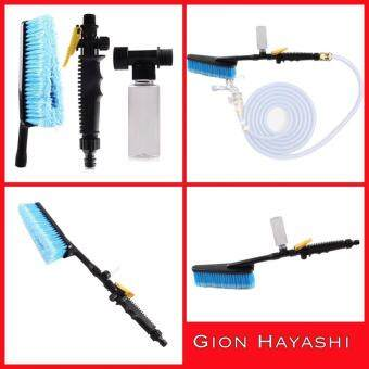 Hayashi - แปรงล้างรถ Car Wash Brush Retractable Long Handle Switch With Water Flow Foam Gun Soft-Bristle Auto Clean Tools